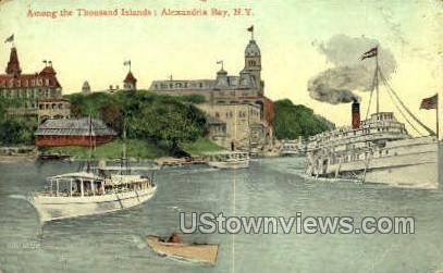 Thousand Island - Alexandria Bay, New York NY Postcard