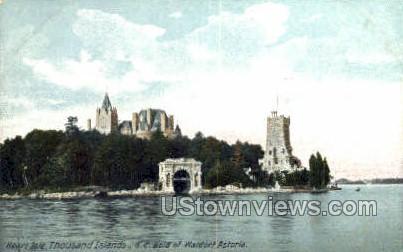 Heart Isle - Thousand Islands, New York NY Postcard
