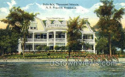 Belle Isle - Thousand Islands, New York NY Postcard