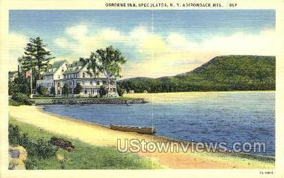 Osborne Inn - Adirondack Mts, New York NY Postcard