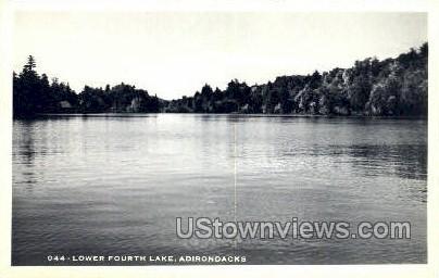 Lower Fourth Lake, Photo postcard - Adirondack Mts, New York NY