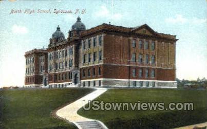 North High School - Syracuse, New York NY Postcard