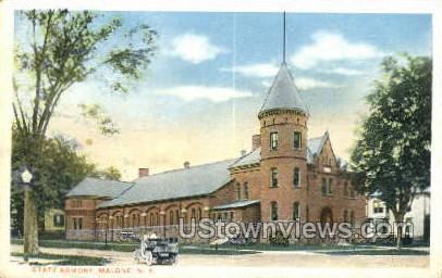 State Armory - Malone, New York NY Postcard