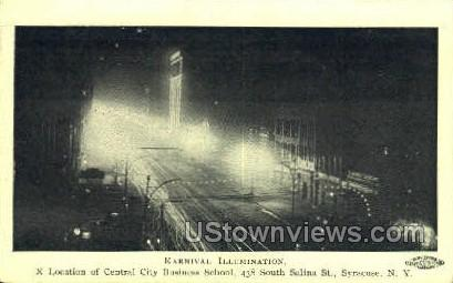 Karnival Illumination - Syracuse, New York NY Postcard