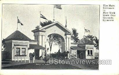 New York State Farm Grounds - Syracuse Postcard