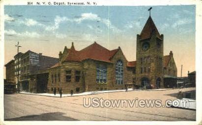 NYC Depot - Syracuse, New York NY Postcard