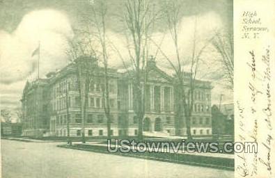 High School, Syracuse - New York NY Postcard