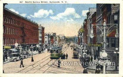 North Salina Street - Syracuse, New York NY Postcard