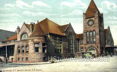 Central R.R. Station - Syracuse, New York NY Postcard