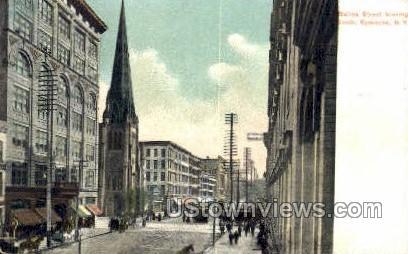 Salina Street - Syracuse, New York NY Postcard