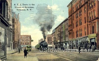 NYC Train - Syracuse, New York NY Postcard