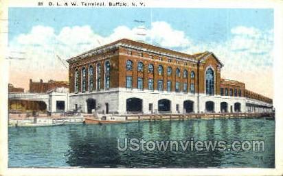 D.L. & W. Terminal - Buffalo, New York NY Postcard