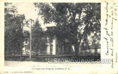 Cortland City Hospital - New York NY Postcard