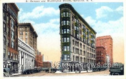 Genesee & Washington Streets - Syracuse, New York NY Postcard