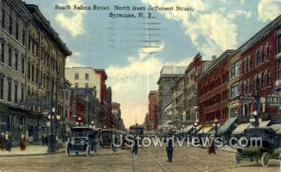 South Salina Street - Syracuse, New York NY Postcard