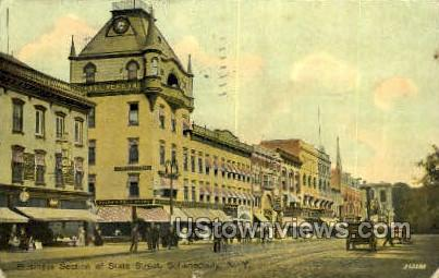 Business Section - Schenectady, New York NY Postcard