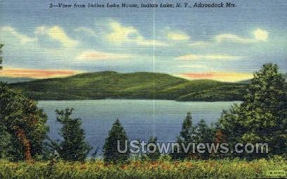 Indian Lake House - New York NY Postcard
