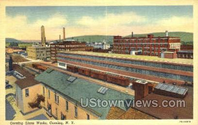 Corning Glass Works - New York NY Postcard