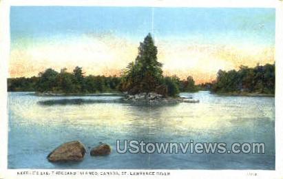 Needle' Eye - Thousand Islands, New York NY Postcard
