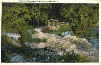 Onondaga Park - Syracuse, New York NY Postcard