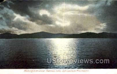Lower Saranac Lake - Adirondack Mts, New York NY Postcard