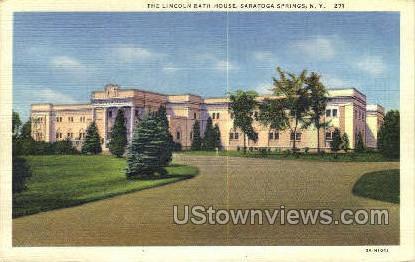 Lincoln Bath House - Saratoga Springs, New York NY Postcard