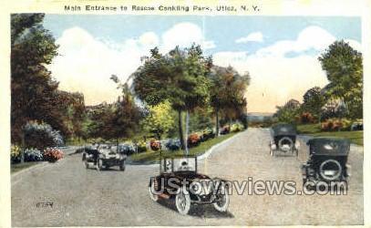Roscoe Conkling Park - Utica, New York NY Postcard