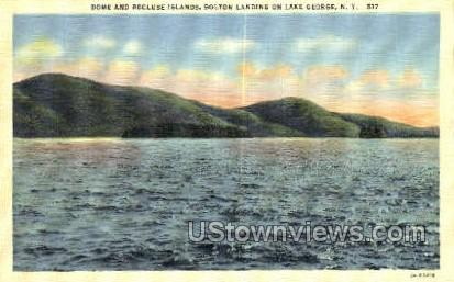 Dome & Recluse Islands - Lake George, New York NY Postcard