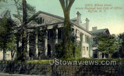 Wilcox Home - Buffalo, New York NY Postcard