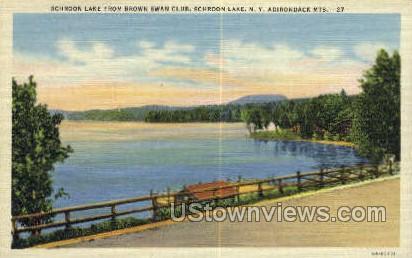Adirondack Mts - Schroon Lake, New York NY Postcard