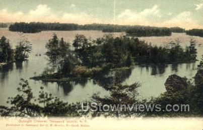 Outsight Channel - Thousand Islands, New York NY Postcard