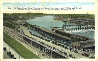 Barge Canal Terminal - Rochester, New York NY Postcard