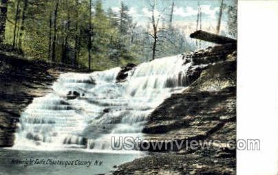 Arkwright Falls - Chautauqua, New York NY Postcard