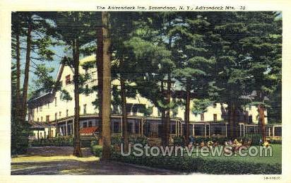 Adirondack Inn - Adirondack Mts, New York NY Postcard