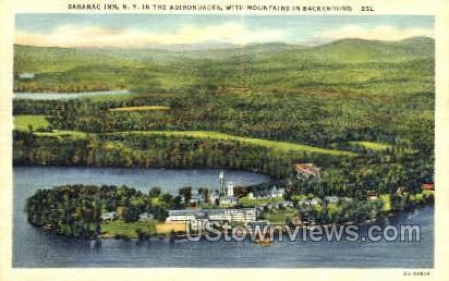 Saranac Inn - Adirondack Mts, New York NY Postcard