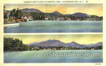 Saranac Lake - Adirondack Mts, New York NY Postcard