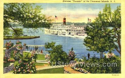 Steamer Toronto - Thousand Islands, New York NY Postcard
