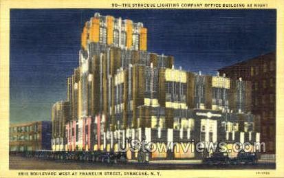 Franklin Street - Syracuse, New York NY Postcard