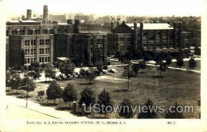 US Naval Training School - Bronx, New York NY Postcard