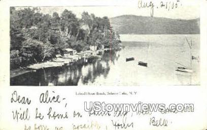 Leland House Beach - Schroon Lake, New York NY Postcard