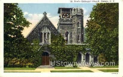 St. Paul's Episcopal Church - Owego, New York NY Postcard