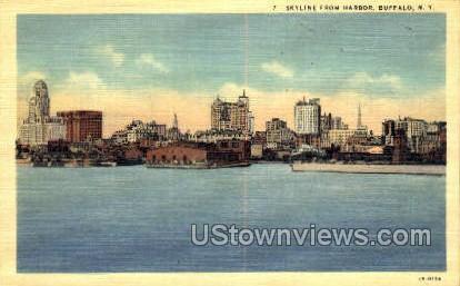 Harbor - Buffalo, New York NY Postcard