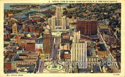 Civic Center - Buffalo, New York NY Postcard
