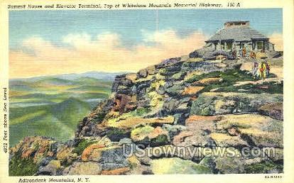 Summit House - Adirondack Mts, New York NY Postcard