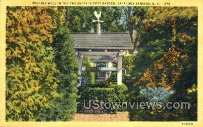 Chauncey Olcott Garden - Saratoga Springs, New York NY Postcard