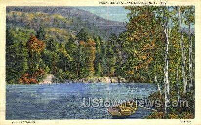 Paradise Bay - Lake George, New York NY Postcard