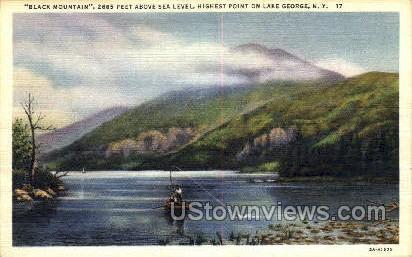 Black Mountain - Lake George, New York NY Postcard