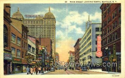 Main Street - Buffalo, New York NY Postcard