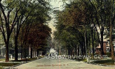 James Street Hill - Syracuse, New York NY Postcard