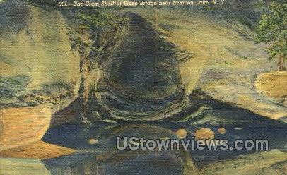 Clam Shell at Stone Bridge - Schroon Lake, New York NY Postcard